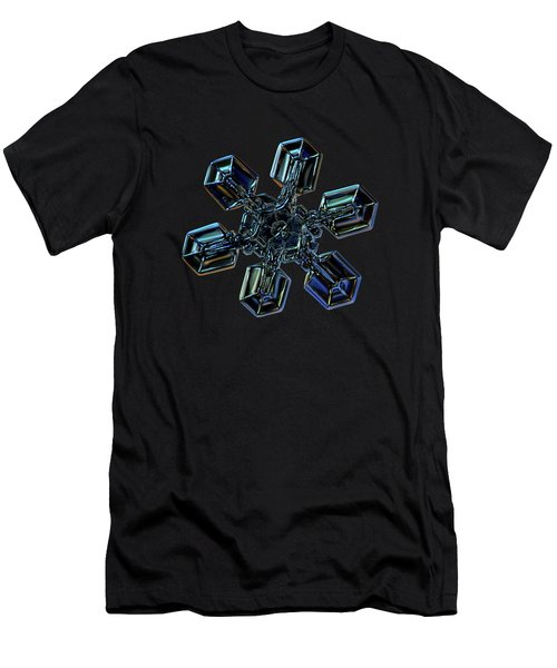 Men's T-Shirt (Athletic Fit) featuring the photograph Snowflake Photo - High Voltage IIi by Alexey Kljatov
