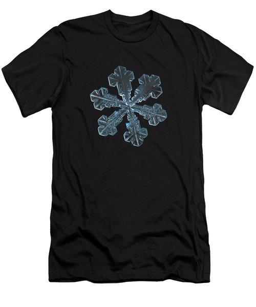 Men's T-Shirt (Slim Fit) featuring the photograph Snowflake Photo - Vega by Alexey Kljatov