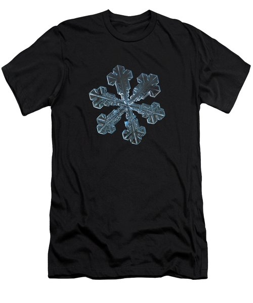 Men's T-Shirt (Athletic Fit) featuring the photograph Snowflake Photo - Vega by Alexey Kljatov