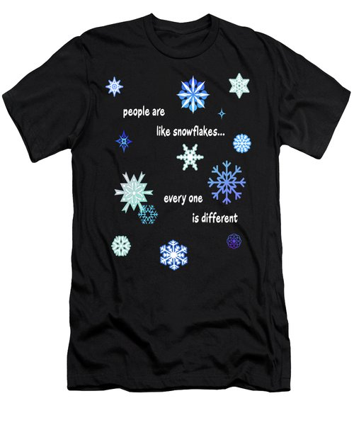 Snowflakes 4 Men's T-Shirt (Slim Fit) by Methune Hively