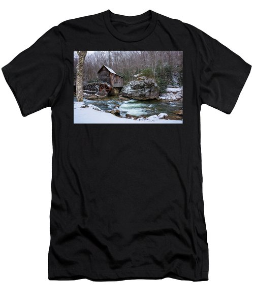 Snowing At The Mill  Men's T-Shirt (Athletic Fit)