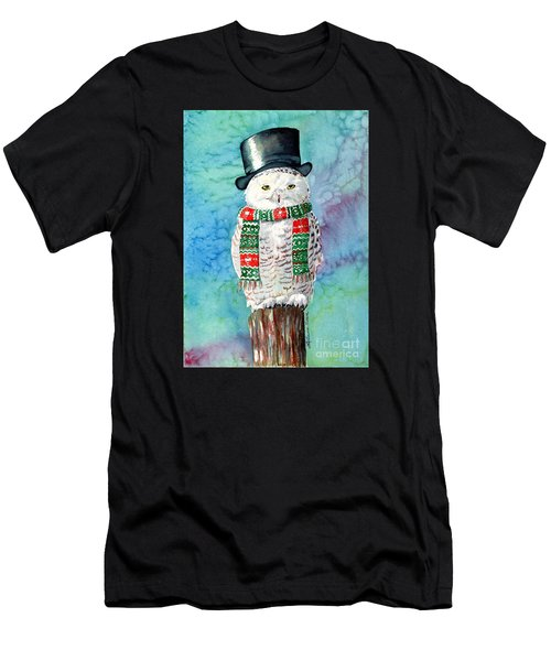 Snowman Owl Men's T-Shirt (Athletic Fit)