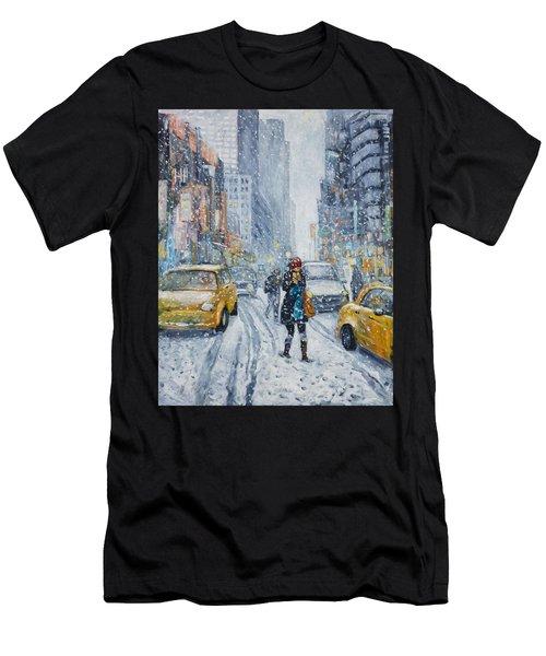 Urban Snowstorm Men's T-Shirt (Athletic Fit)