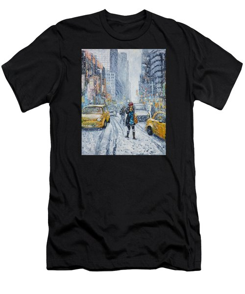 Urban Snowstorm Men's T-Shirt (Athletic Fit)