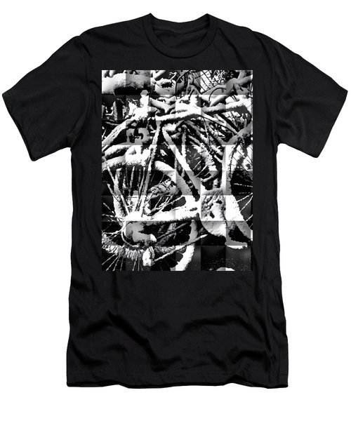 Snowy Bike Men's T-Shirt (Slim Fit) by Joan Reese