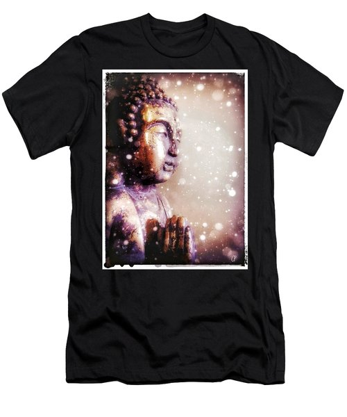 Snowy Buddha Men's T-Shirt (Athletic Fit)