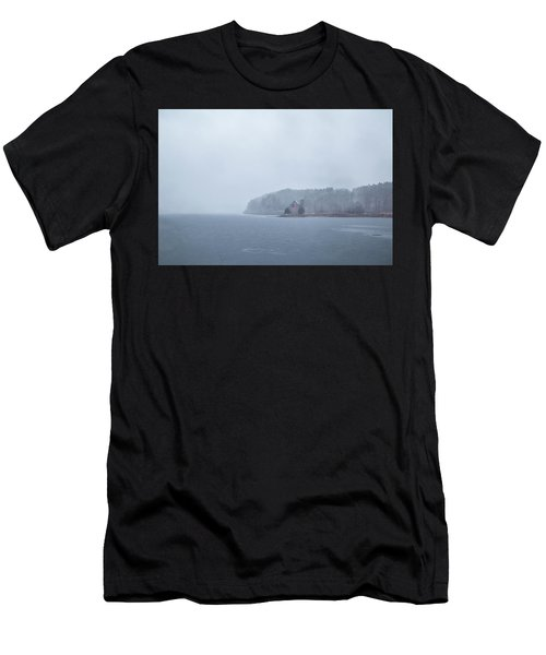 Men's T-Shirt (Athletic Fit) featuring the photograph Snowy Church by Brian Hale
