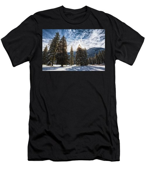 Snowy Clouds Men's T-Shirt (Athletic Fit)