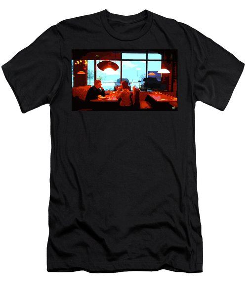 Snowy Date Men's T-Shirt (Athletic Fit)