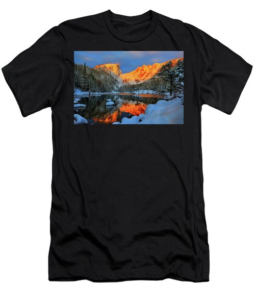 Snowy Dawn At Dream Lake Men's T-Shirt (Athletic Fit)