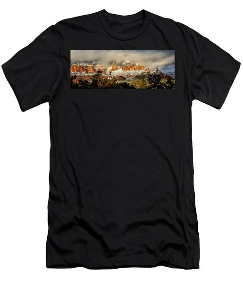 Snowy Day In Sedona Men's T-Shirt (Athletic Fit)