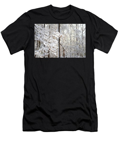Snowy Dogwood Bloom Men's T-Shirt (Athletic Fit)