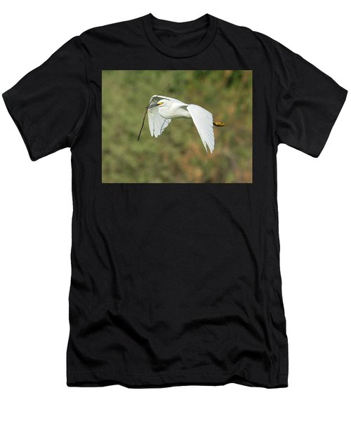 Snowy Egret 4786-091017-1cr Men's T-Shirt (Athletic Fit)