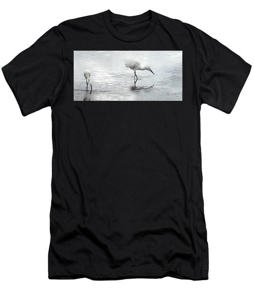 Snowy Egrets Men's T-Shirt (Athletic Fit)
