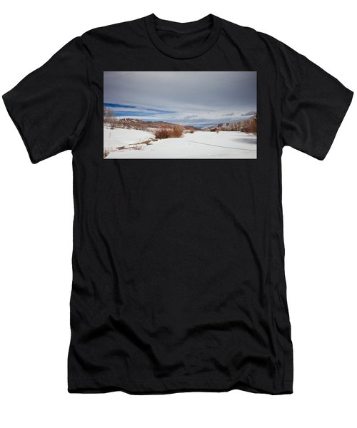 Snowy Field Men's T-Shirt (Athletic Fit)
