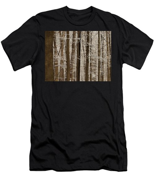 Snowy Forest Elevation Men's T-Shirt (Athletic Fit)