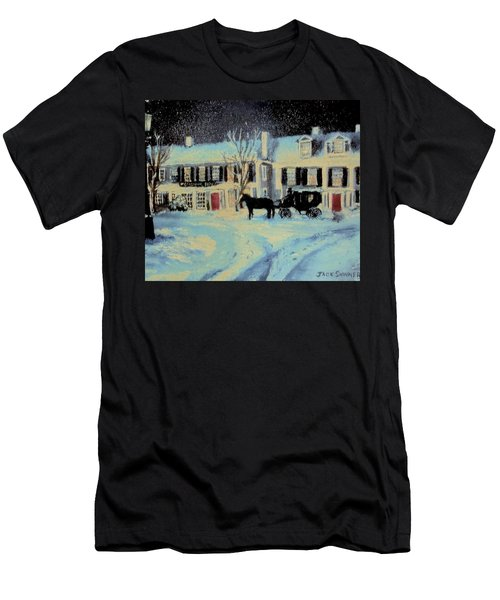 Snowy Night At The Inn Men's T-Shirt (Athletic Fit)
