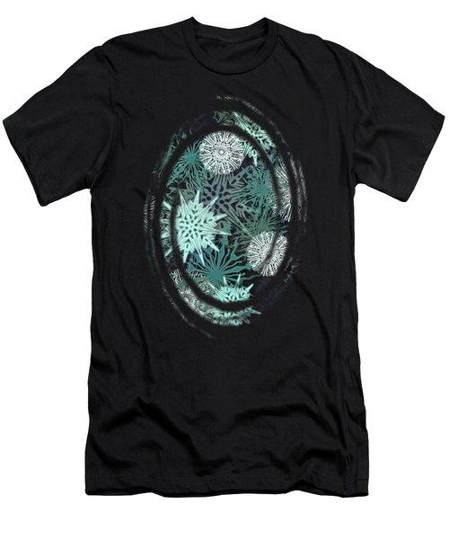 Snowy Night Men's T-Shirt (Slim Fit) by AugenWerk Susann Serfezi