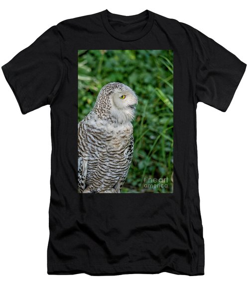 Men's T-Shirt (Slim Fit) featuring the photograph Snowy Owl by Patricia Hofmeester