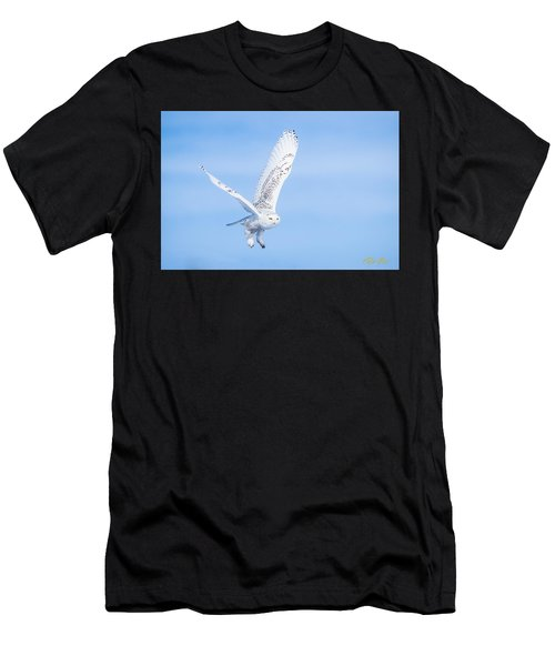 Snowy Owls Soaring Men's T-Shirt (Athletic Fit)
