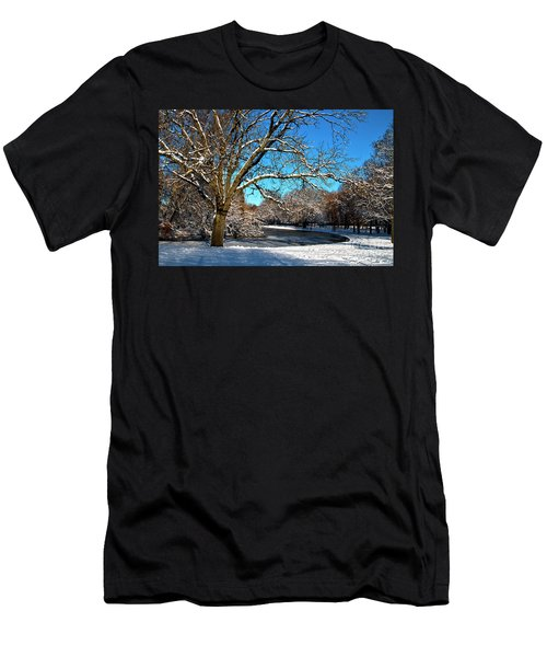 Snowy Pond Men's T-Shirt (Athletic Fit)