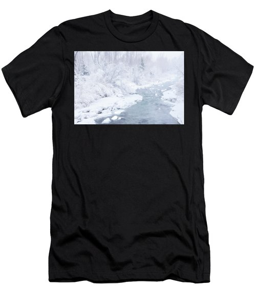 Men's T-Shirt (Athletic Fit) featuring the photograph Snowy River by Angela Moyer