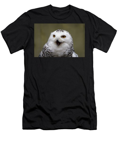Snowy Sings Men's T-Shirt (Athletic Fit)