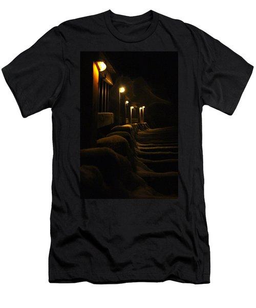 Snowy Stairway Men's T-Shirt (Athletic Fit)