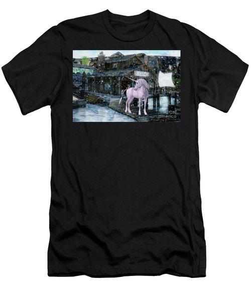 Snowy Unicorn Men's T-Shirt (Athletic Fit)