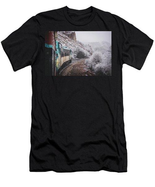 Snowy Verde Canyon Railroad Men's T-Shirt (Athletic Fit)