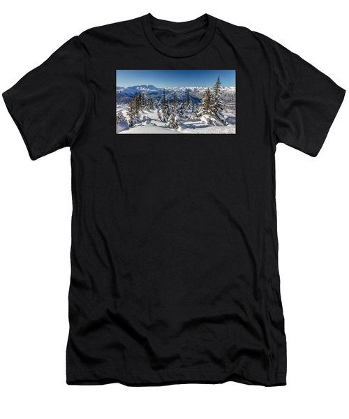 Snowy Whistler Mountain  Men's T-Shirt (Athletic Fit)