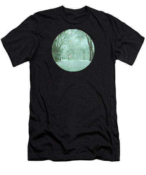 Snowy Winter Night Men's T-Shirt (Athletic Fit)