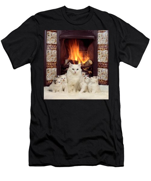 Snuggle Up With Mother By The Fire Men's T-Shirt (Athletic Fit)