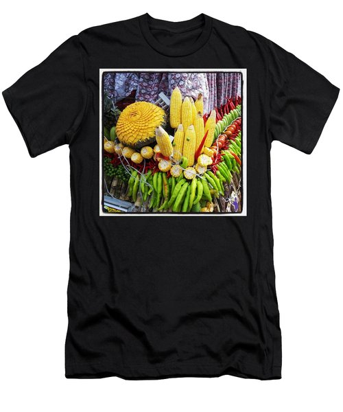 Men's T-Shirt (Athletic Fit) featuring the photograph So, Elephants Eat Red Hot Chile by Mr Photojimsf