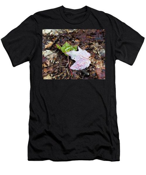 Soaken Leaves Men's T-Shirt (Athletic Fit)