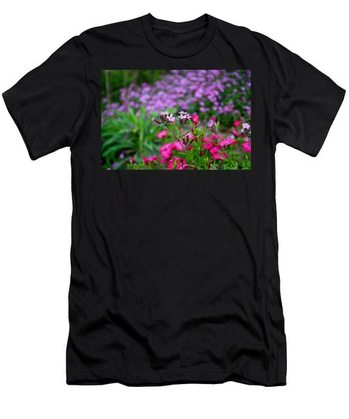 Men's T-Shirt (Slim Fit) featuring the photograph Soapwort And Pinks by Kathryn Meyer