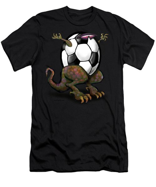 Soccer Saurus Rex Men's T-Shirt (Athletic Fit)
