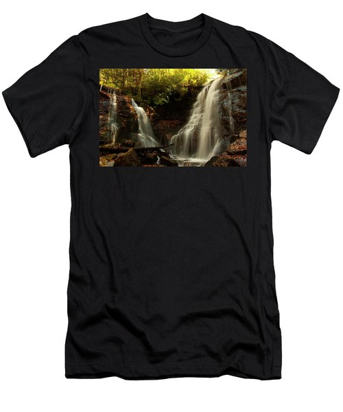 Men's T-Shirt (Athletic Fit) featuring the photograph Soco Waterfalls From Spillway by Chris Flees