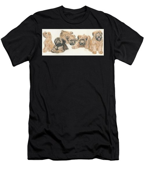 Soft-coated Wheaten Terrier Puppies Men's T-Shirt (Athletic Fit)