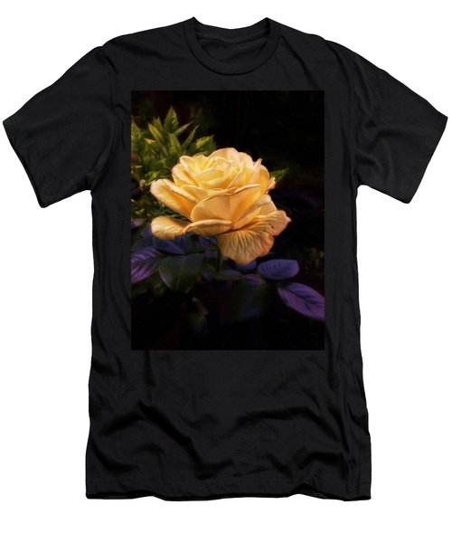 Soft Gold Rose Men's T-Shirt (Athletic Fit)