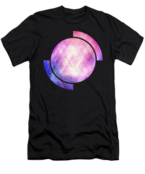 Soft Modern Fashion Pink Purple Bluetexture  Soft Light Glass Style   Triangle   Pattern Edit Men's T-Shirt (Athletic Fit)