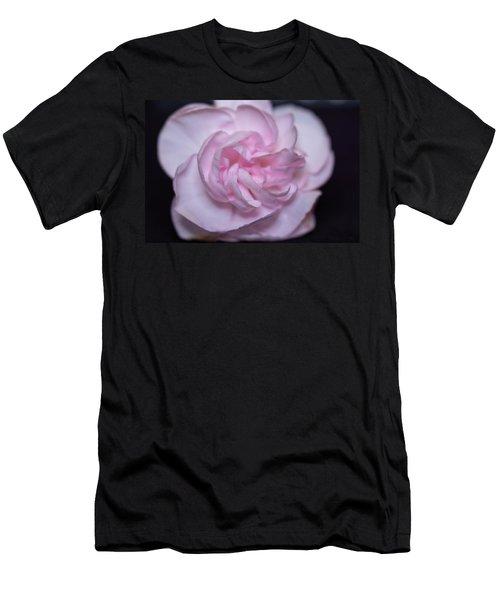 Soft Pink Rose Men's T-Shirt (Athletic Fit)