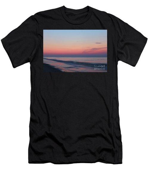 Soft Pink Sunrise Men's T-Shirt (Athletic Fit)