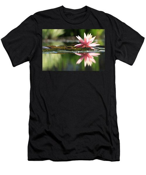 Soft Pink Water Lily Men's T-Shirt (Athletic Fit)