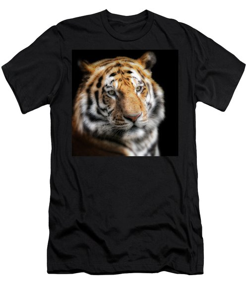 Soft Tiger Portrait Men's T-Shirt (Athletic Fit)