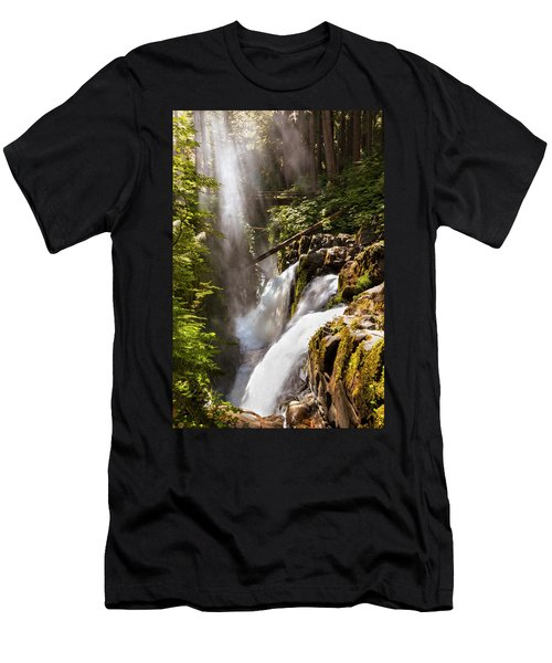 Men's T-Shirt (Slim Fit) featuring the photograph Sol Duc Falls by Adam Romanowicz