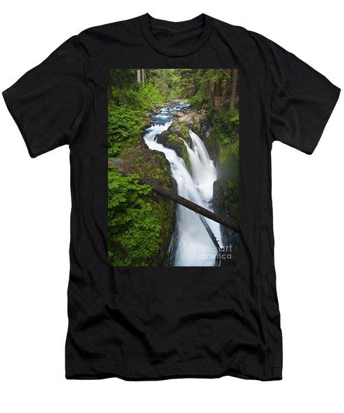 Sol Duc Falls Men's T-Shirt (Athletic Fit)