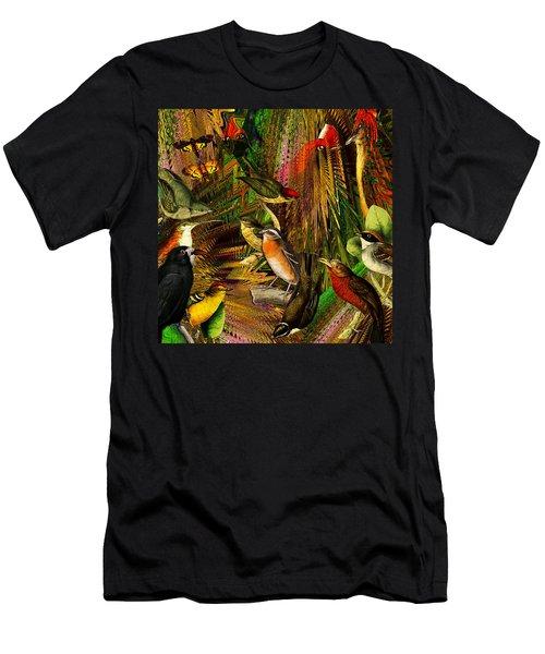 Solar Birds Of Paris Men's T-Shirt (Athletic Fit)