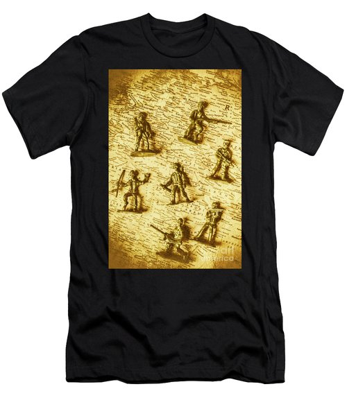 Soldiers And Battle Maps Men's T-Shirt (Athletic Fit)