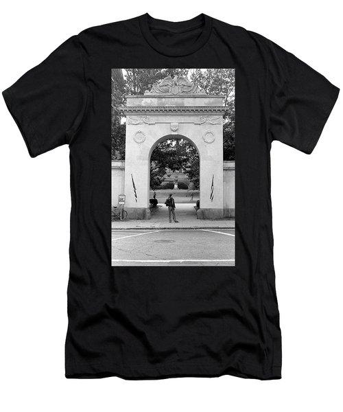 Soldiers Memorial Gate, Brown University, 1972 Men's T-Shirt (Athletic Fit)